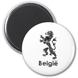 Vintage Bélgica Imán Redondo 5 Cm