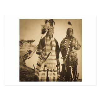 Vintage Blackfoot del jefe y del guerrero de Postal