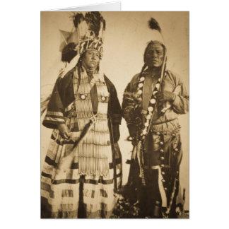Vintage Blackfoot del jefe y del guerrero de Tarjeta De Felicitación