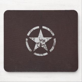 Vintage blanco aliado de la estrella de los E.E.U. Alfombrilla De Ratón