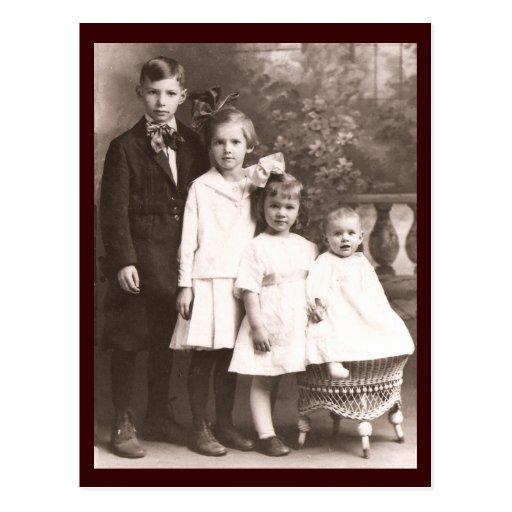 Vintage Brother y hermanas Tarjetas Postales