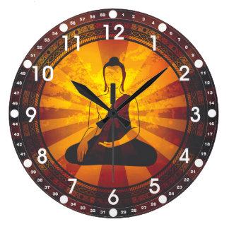 Vintage Buda Reloj Redondo Grande