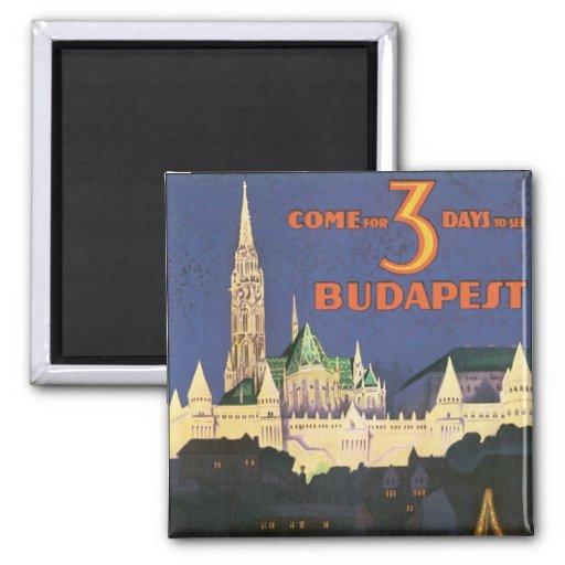 Vintage Budapest Imán Para Frigorifico