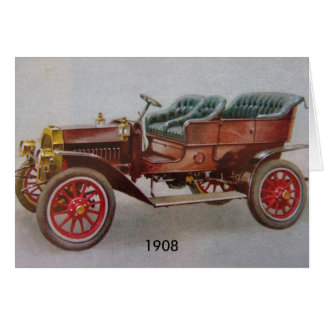 Vintage Buick Tarjeta Pequeña
