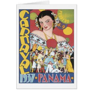 Vintage Carnaval Panamá 1937 Felicitaciones