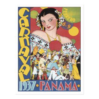 Vintage Carnaval Panamá 1937 Postal