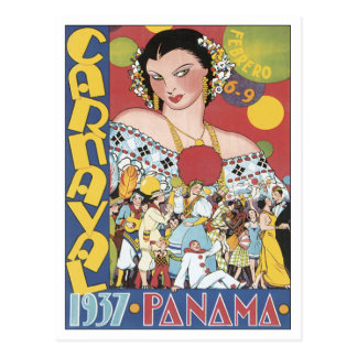 Vintage Carnaval Panamá 1937 Tarjetas Postales