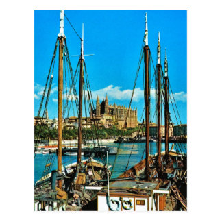 Vintage catedral de España, Mallorca, Palma Tarjetas Postales