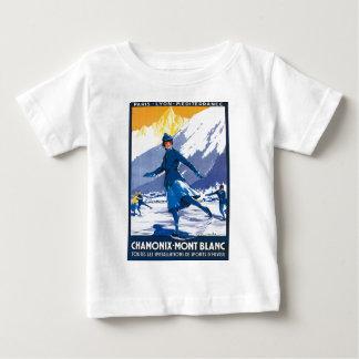 Vintage Chamonix - poster de Mont Blanc Camiseta De Bebé
