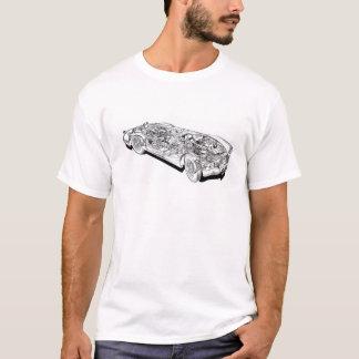 Vintage clásico del coche cortado de MGA que Camiseta