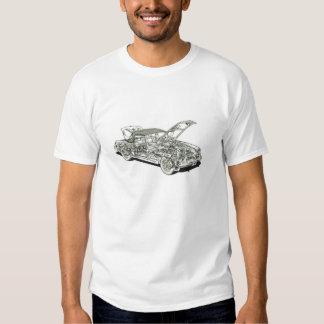 Vintage clásico del coche cortado del MGB que Camiseta