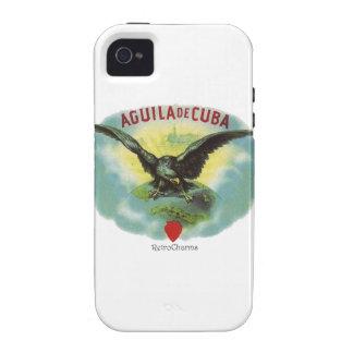 Vintage Cubano Aguila de Cuba Vibe iPhone 4 Fundas