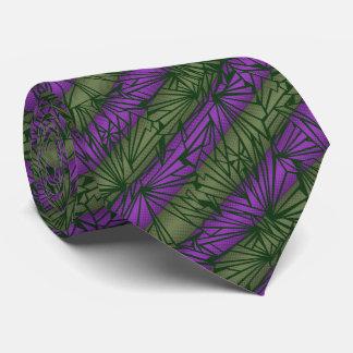 Vintage de cristal quebrado de la raya bilateral corbatas personalizadas