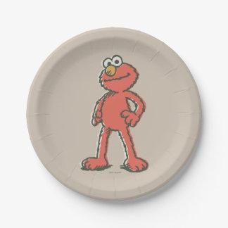 Vintage de Elmo Plato De Papel
