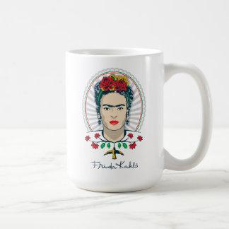 Vintage de Frida Kahlo el | floral Taza De Café