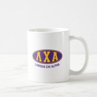 Vintage de la alfa el | de la ji de la lambda taza de café