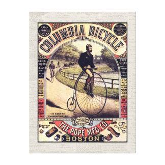 Vintage de la bicicleta de Columbia Impresión En Lona Estirada