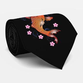 Vintage de la carpa de Koi Corbatas Personalizadas