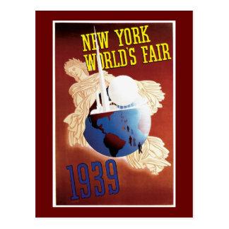 """Vintage de la feria de mundo de Nueva York 1939"" Postal"