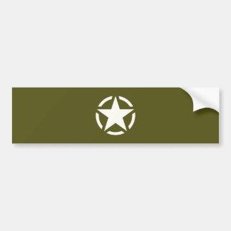 Vintage de la plantilla de la estrella en verde de pegatina para coche