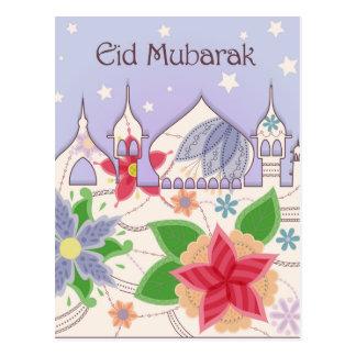 Vintage de la postal de Eid Mubarak