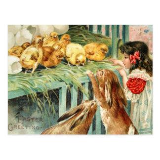 Vintage de la postal de la escena de Pascua de los