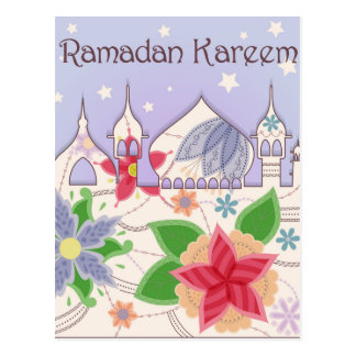 Vintage de la postal del Ramadán Kareem