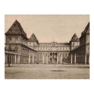 Vintage de la reproducción del castillo de Torino Postal