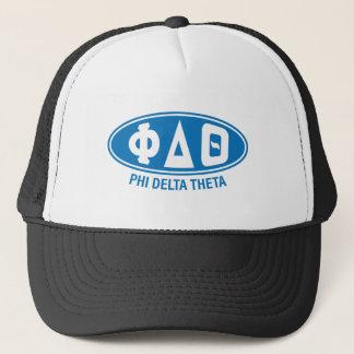 Vintage de la theta el | del delta de la phi gorra de camionero
