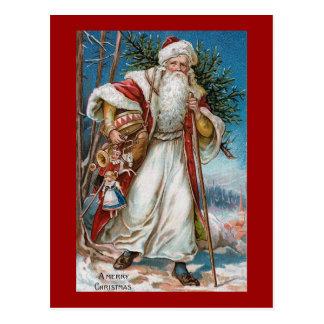 """""""Vintage de las Felices Navidad"""" Postal"""