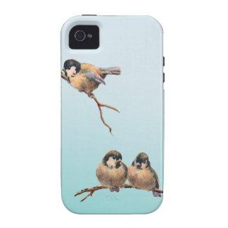 Vintage de los pájaros iPhone 4 fundas