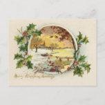 Vintage de los saludos de las Felices Navidad