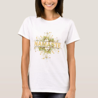 Vintage de Namaste floral Camiseta