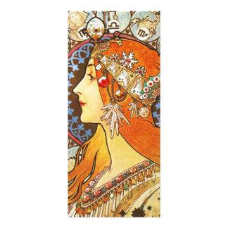 Vintage de Nouveau del arte del zodiaco del Diseño De Tarjeta Publicitaria