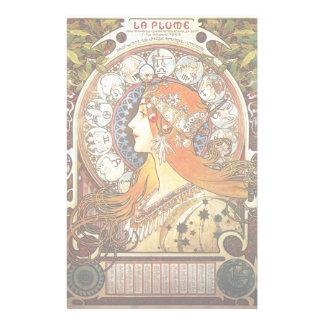 Vintage de Nouveau del arte del zodiaco del Papeleria De Diseño