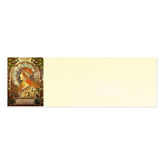 Vintage de Nouveau del arte del zodiaco del Tarjetas De Visita Mini
