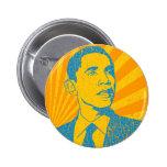 Vintage de Obama Chapa Redonda 5 Cm