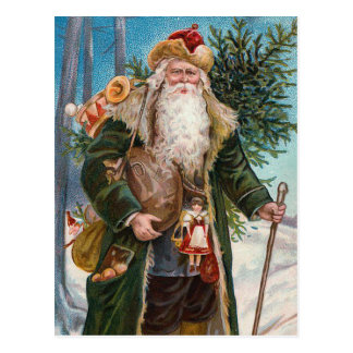 "Vintage de ""Papá Noel"" Postal"