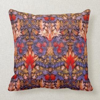 Vintage de William Morris Snakeshead floral Cojín Decorativo