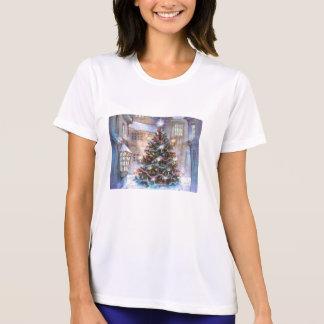 Vintage del árbol de navidad camiseta