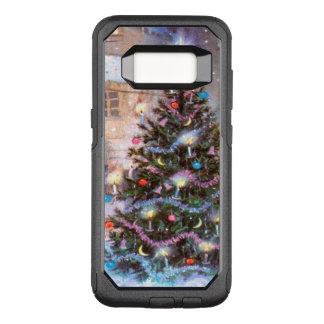 Vintage del árbol de navidad funda otterbox commuter para samsung galaxy s8