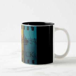 Vintage del arco iris de la taza de la navegación