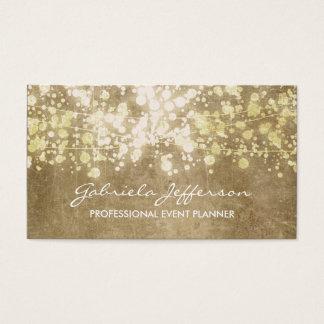 Vintage del confeti de la hoja de oro elegante tarjeta de visita