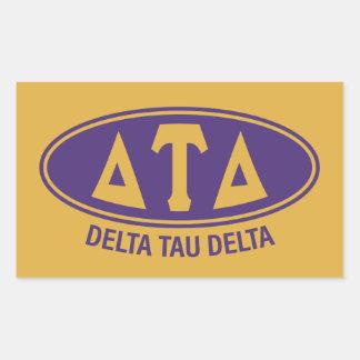 Vintage del delta el | del Tau del delta Pegatina Rectangular