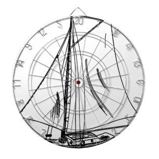 Vintage del dibujo del velero diana