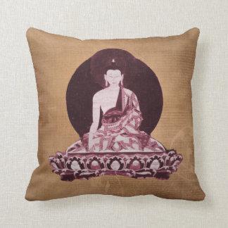 Vintage del Grunge de Shakyamuni Buda Cojines