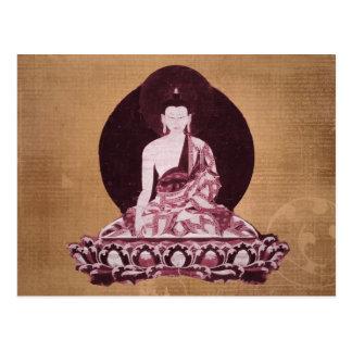 Vintage del Grunge de Shakyamuni Buda Postal
