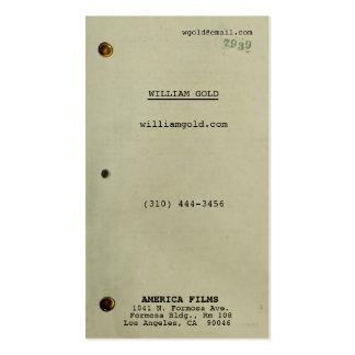 Vintage del guión tarjetas de visita