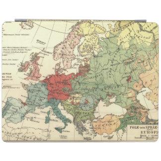 Vintage del mundo de los países del mapa de Europa Cubierta De iPad