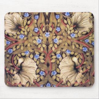 Vintage del Pimpernel de William Morris floral Alfombrilla De Ratón